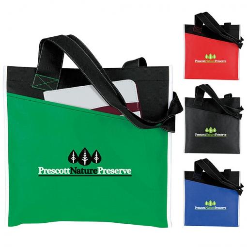 Atchison® Angled Pocket Non-Woven Tote Bag