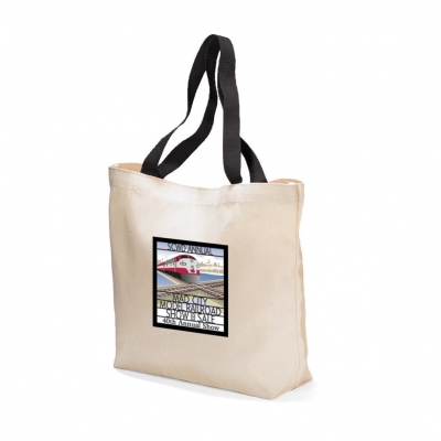 Colored Handle Tote Natural-Black