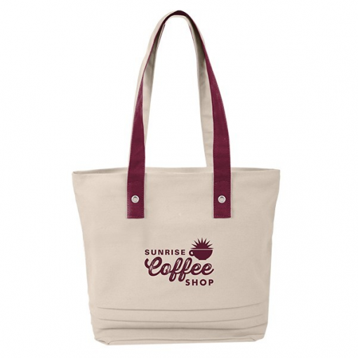 Cotton Pleated Tote Bag