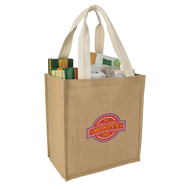 GoodValue® Jute Grocery Tote Bag