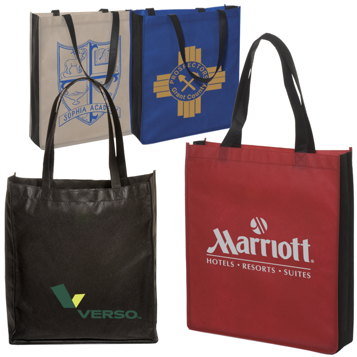 Non-Woven Two Tone Tote Bag