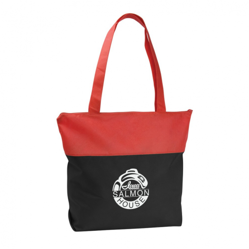 Poly Pro Two-Tone Zippered Tote Bag