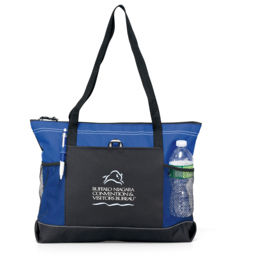 Select Zippered Tote Blue