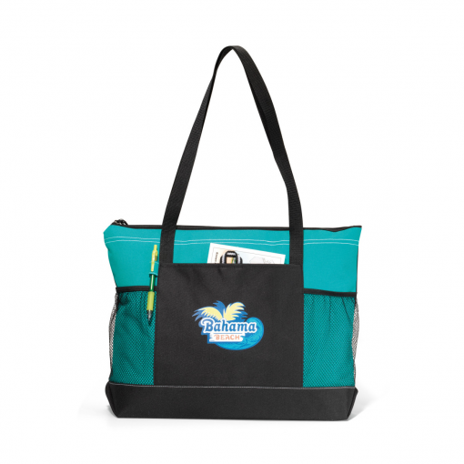 Select Zippered Tote - Turquoise