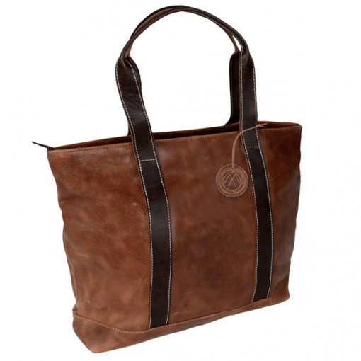 Westbridge Two Tone Leather Tote Bag