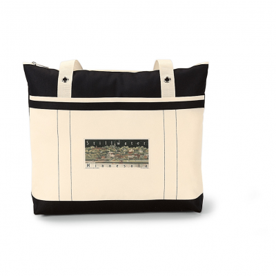 Windjammer Tote Black-Natural