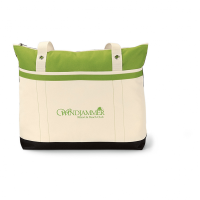 Windjammer Tote Green-Natural