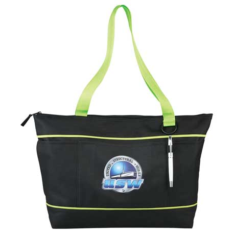 "Zippered Multi-Pocket 11"" Tablet Tote"