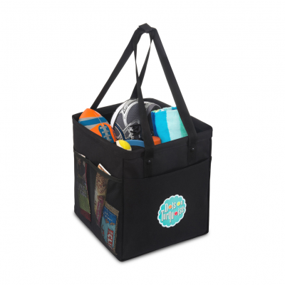 Colbie Collapsible Cotton Tote - Black