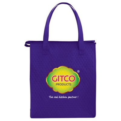 Deluxe Non-Woven Insulated Grocery Tote