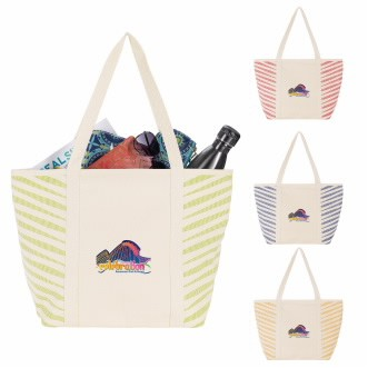 GoodValue® Zebra Colored Cotton Tote Bag
