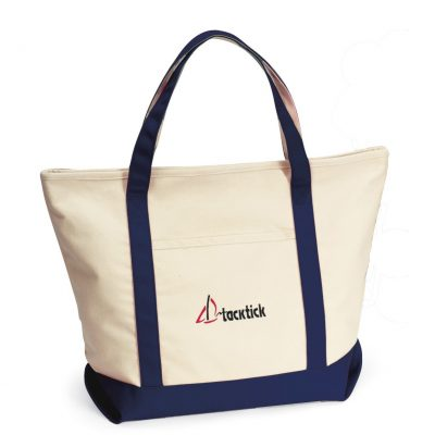 Harbor Cruise Boat Tote Blue