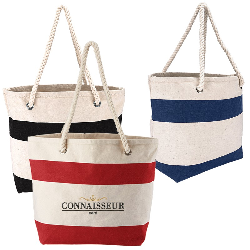 Cotton Resort Tote Bag with Rope Handle