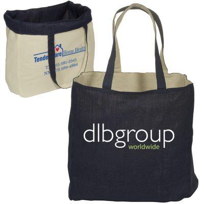 Reversible Jute/Cotton Tote Bag