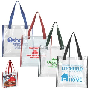 Clear Vinyl Stadium Compliant Tote Bag (Overseas)