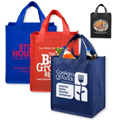 Full View Large Imprint Grocery Shopping Tote Bag