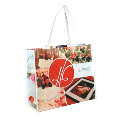 """Margaret"" Full Color Laminated Wrap Carry All Tote Bag (Overseas)"