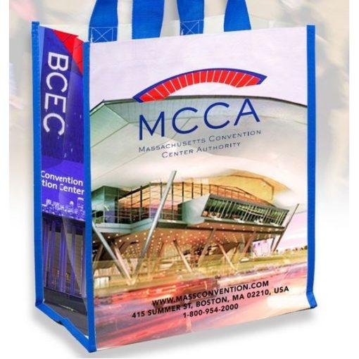 Nicole Full Color Laminated Woven Wrap Tote & Shopping Bag