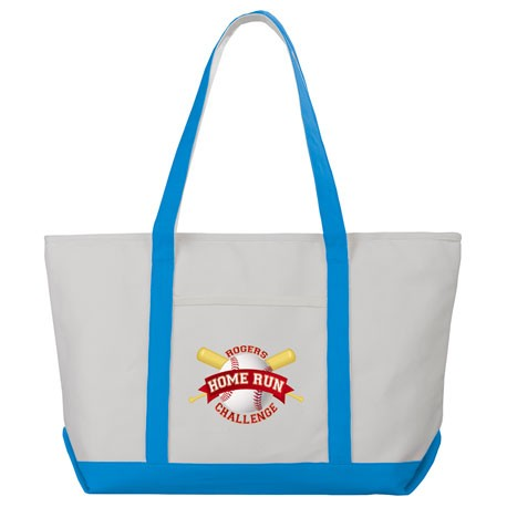 Premium 18oz Cotton Canvas Zippered Boat Tote