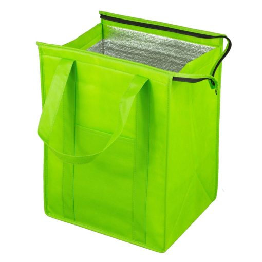Super Cooler Large Insulated Cooler Zipper Tote Bag (Overseas)