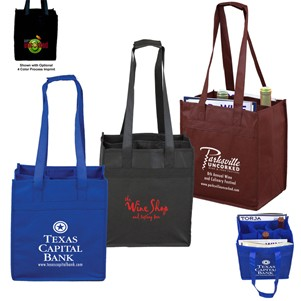 """The Sonoma"" 6 Bottle Wine Tote Bag (Overseas)"