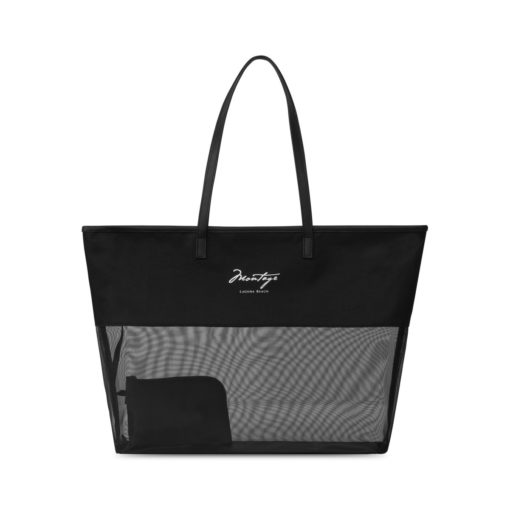 Atlantis Mesh Beach Tote - Black