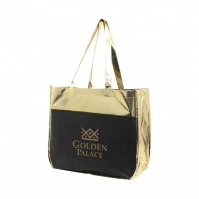 Metallic Poly Pro Shopper Tote Bag