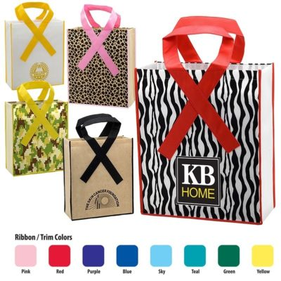 "12"" Ribbon Grocery Tote - Direct Import"