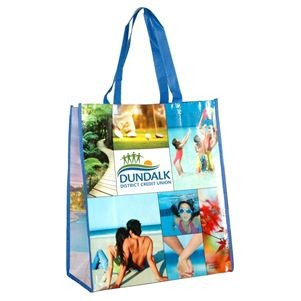 """Brenda"" Non-Woven Full Color Laminated Wrap Carry All Tote & Shopping Bag"