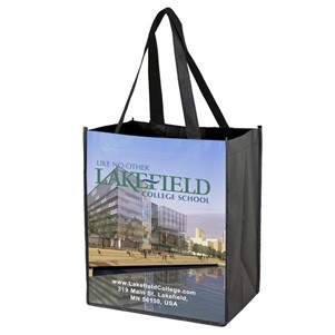 """Corner Stone"" Full-Color Sublimation Grocery Shopping Tote Bag (Overseas)"