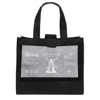Grandé Mesh Panel Tote Bag (Screen Print)