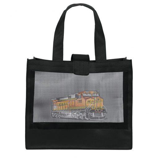 Grandé Mesh Panel Tote Bag (Sparkle)