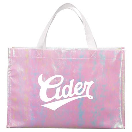 Iridescent Non-Woven Shopper Tote
