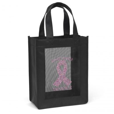 Plaza Mesh Panel Tote Bag (Sparkle)