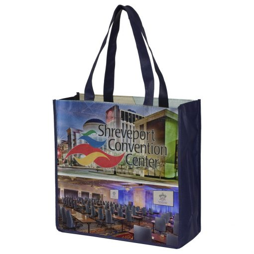 """""""Downtown"""" Full Color Sublimation Grocery Shopping Tote Bags (Overseas)"""