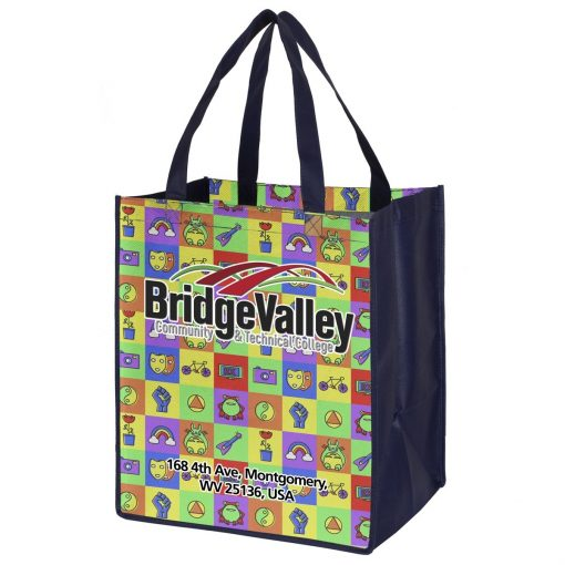 """Heavy Haul"" Full Color Sublimation Grocery Shopping Tote Bags (Overseas)"