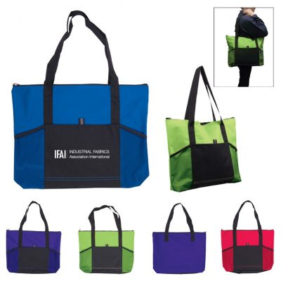 Jumbo Trade Show Tote w/Front Pockets