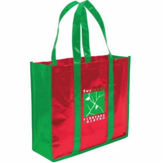 Universal Source™ Laminated Non-Woven 3 Bottle Tote Bag