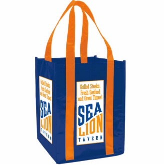 Universal Source™ Laminated Non-Woven 4 Bottle Tote Bag