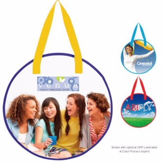 Universal Source™ Laminated Non-Woven Round Tote