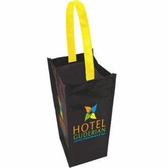 Universal Source™ Laminated Non-Woven 1 Bottle Tote Bag