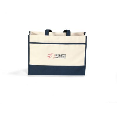 Contemporary Tote Blue-Natural-Navy
