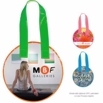 Universal Source™ Laminated Non-Woven Mini Round Tote Bag