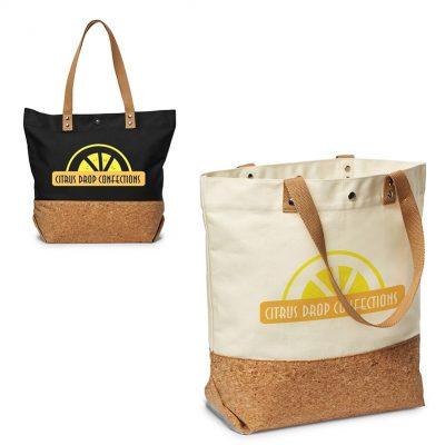 12 Oz. Canvas/Cork Shopper Tote