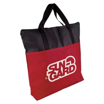 Colleague 2 Tone Zipper Tote Bag