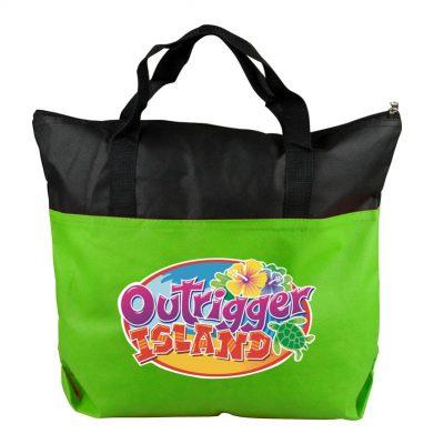 The Colleague 2-Tone Non-Woven Zip Tote Bag - Full Color Digital