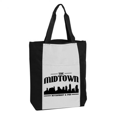 The Madison Ave Zipper Tote Bag - 600D polyester