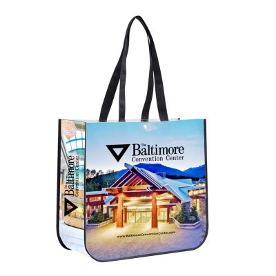 """Meghan"" Non-Woven Full-Color Laminated Wrap Carry All Tote Bag (Overseas)"