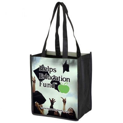 """Couple Things"" Full-Color Glossy Lamination Grocery Shopping Tote Bag (Overseas)"