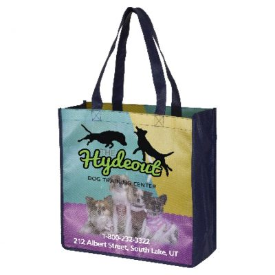 """Local"" Full-Color Glossy Lamination Grocery Shopping Tote Bag (Overseas)"